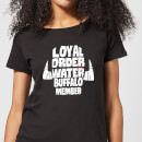 The Flintstones Loyal Order Of Water Buffalo Member Women's T-Shirt - Black