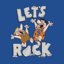 The Flintstones Let's Rock Women's T-Shirt - Royal Blue