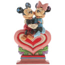 Disney Traditions Heart to Heart (Mickey Mouse and Minnie on Heart Figurine) 17.5cm