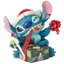 Bad Wrap, Figurine Stitch avec bonnet de Noël (13 cm) – Disney Traditions