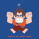Wreck-it Ralph This Is My Happy Face Women's T-Shirt - Royal Blue