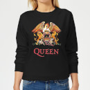 Queen Crest Women's Sweatshirt - Black