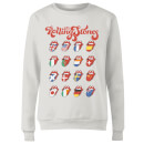 Rolling Stones International Licks Women's Sweatshirt - White