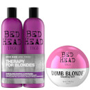 TIGI Bed Head Blonde Hair Shampoo, Conditioner and Styling Cream Set