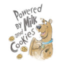 Scooby Doo Powered By Milk And Cookies Men's T-Shirt - White