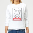 Scooby Doo Hold The Phone Women's Sweatshirt - White