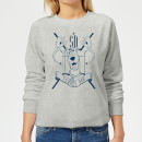 Scooby Doo Coat Of Arms Women's Sweatshirt - Grey