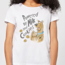 Scooby Doo Powered By Milk And Cookies Women's T-Shirt - White