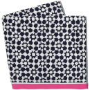 Joules Tile Geo Towels - French Navy