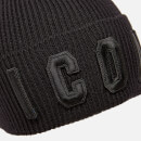 Dsquared2 Men's Icon Knit Hat - Black/Black