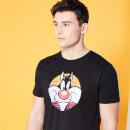 Looney Tunes Kaboom Collection Classic Sylvester Men's T-Shirt - Black