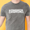 Cartoon Network Spin-Off Distressed LogoT-Shirt - Black Acid Wash