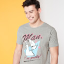 Camiseta Spin-Off Cartoon Network Johnny Bravo Man I'm Pretty - Gris