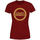 Game of Thrones Circle Logo Women's T-Shirt - Burgundy