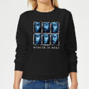 Game of Thrones Winter Is Here Faces Women's Sweatshirt - Black