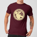 Johnny Bravo Sports Badge Men's T-Shirt - Burgundy