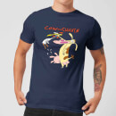 Cow and Chicken Characters Men's T-Shirt - Navy