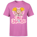 Dexters Lab Dee Dee I Love Unicorns Men's T-Shirt - Pink