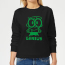 Dexters Lab Green Genius Women's Sweatshirt - Black