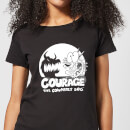 Courage The Cowardly Dog Spotlight Women's T-Shirt - Black