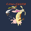Cow and Chicken Characters Women's T-Shirt - Navy