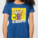 Cow and Chicken Supercow Al Rescate! Women's T-Shirt - Royal Blue