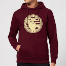 Johnny Bravo Sports Badge Hoodie - Burgundy