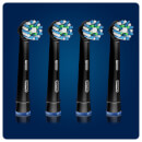 Oral-B CrossAction Replacement Electric Toothbrush Heads - Black Edition (Pack of 4)