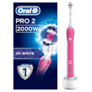 Oral-B Pro 2 3D White Power Handle Electric Toothbrush - Pink