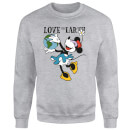 Disney Minnie Mouse Love The Earth Sweatshirt - Grey