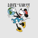 Disney Minnie Mouse Love The Earth Men's T-Shirt - Grey