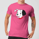 Disney 101 Dalmatians Head Men's T-Shirt - Pink