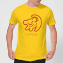 Disney Lion King Cave Drawing Men's T-Shirt - Yellow
