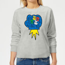 Donald Duck Pop Fist Women's Sweatshirt - Grey