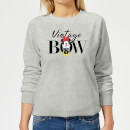 Disney Minnie Mouse Vintage Bow Women's Sweatshirt - Grey