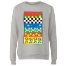 Donald Duck Vintage Pattern Women's Sweatshirt - Grey