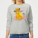Disney Lion King Simba Pastel Women's Sweatshirt - Grey