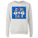 Disney Chip N' Dale Women's Sweatshirt - White