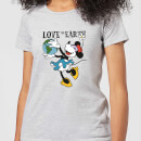 Disney Minnie Mouse Love The Earth Women's T-Shirt - Grey
