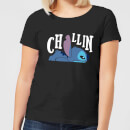 Disney Lilo And Stitch Chillin Women's T-Shirt - Black