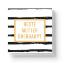 Beste Mutter überhaupt Square Greetings Card (14.8cm x 14.8cm)