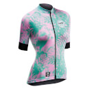 Northwave Leaves Short Sleeve Jersey - Green Forest/Pink