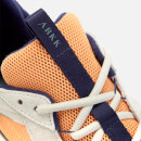ARKK Copenhagen Men's Kanetyk Suede W13 Trainers - Off White/Blazing Orange