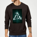 Harry Potter Hallows Painted Sweatshirt - Black