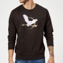 Harry Potter Hedwig Broom Sweatshirt - Black