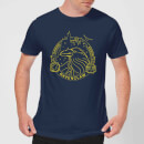 Harry Potter Ravenclaw Raven Badge Men's T-Shirt - Navy