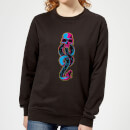 Harry Potter Dark Mark Neon Women's Sweatshirt - Black