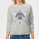 Harry Potter Christmas Sweater Women's Sweatshirt - Grey