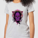Harry Potter Death Mask 2 Neon Women's T-Shirt - Grey