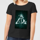 Harry Potter Hallows Painted Women's T-Shirt - Black